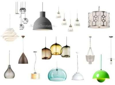 подвесные люстры для кухни
