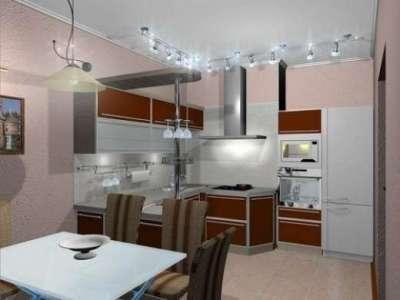люстра со светильниками на кухне