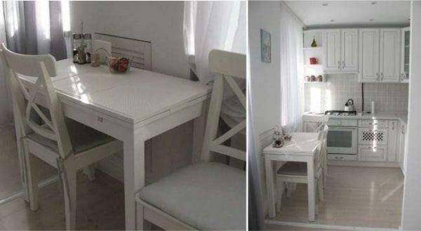 стиль прованс на маленькой кухне