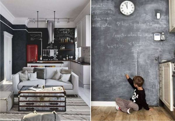 обои на которых можно рисовать на кухне