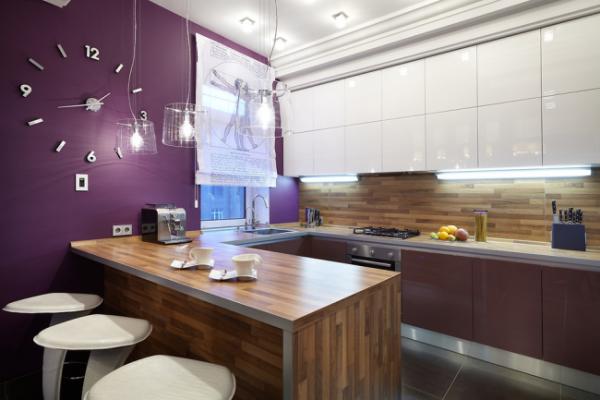 покрашенные стены на кухне