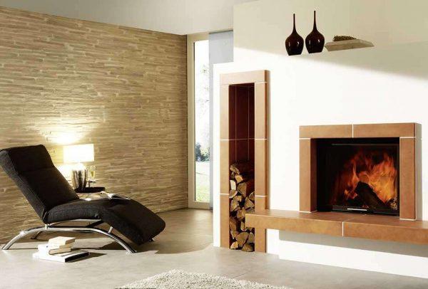 дом с печкой в стиле минимализм