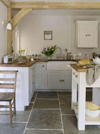 керамогранит на полу кухни