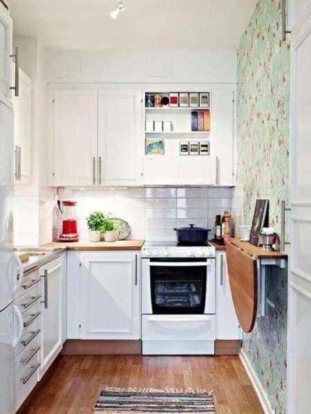ремонт кухни шесть метров с откидным столиком