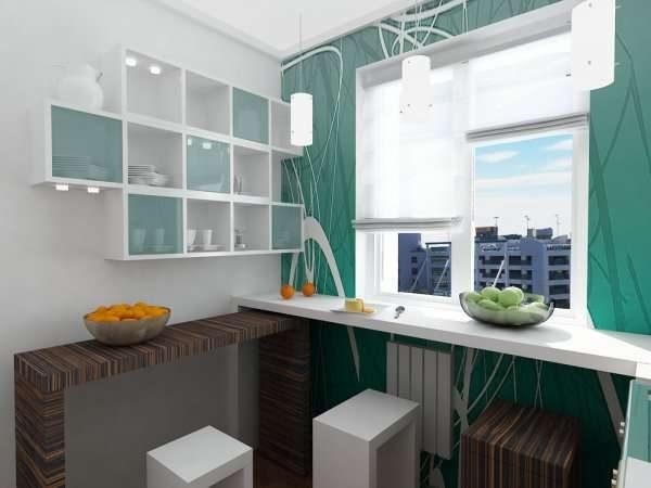 ремонт кухни шесть метров с рабочей зоной у окна