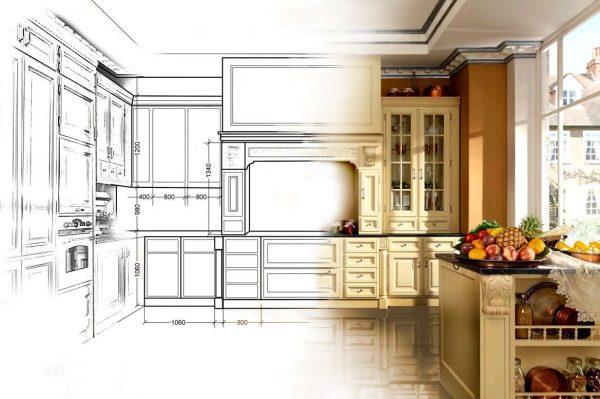 планировка кухни небольшой