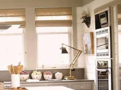 бамбуковые шторы для маленькой кухни