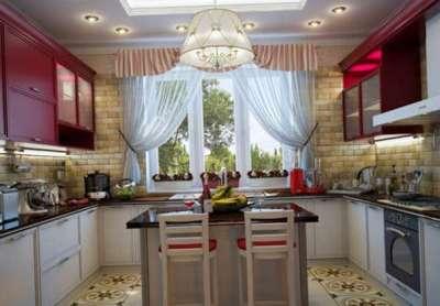 шторы прозрачные для маленькой кухни