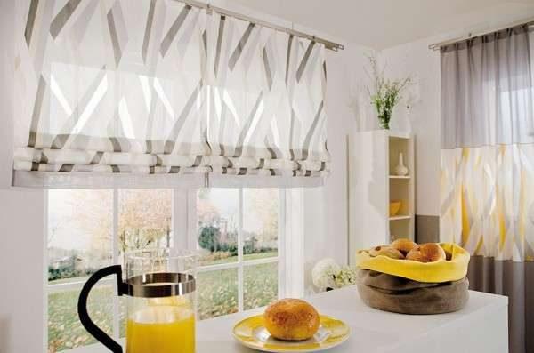 шторы рулонные для маленькой кухни