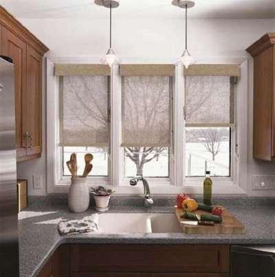 ролл шторы для маленькой кухни