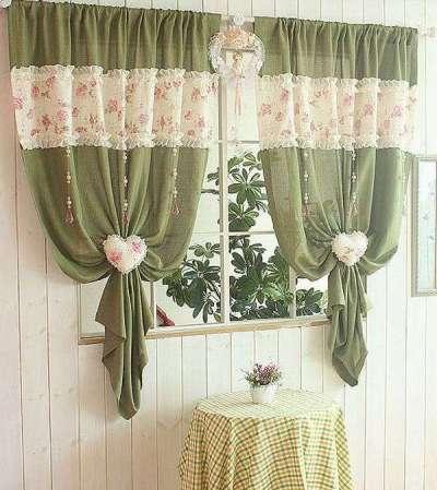 шторы воланы своими руками на кухню