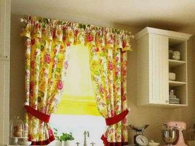 шторы с воланами на кухню своими руками