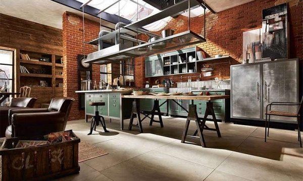 мебель на кухне в стиле лофт