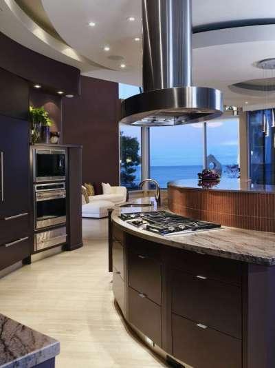 Интерьер кухни в хай тек стиле техника