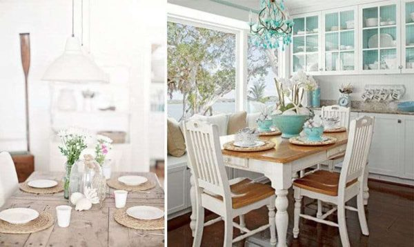 обеденный стол на кухне в средиземноморском стиле
