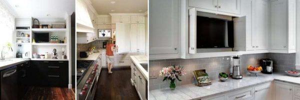 телевизор на кухонной полке