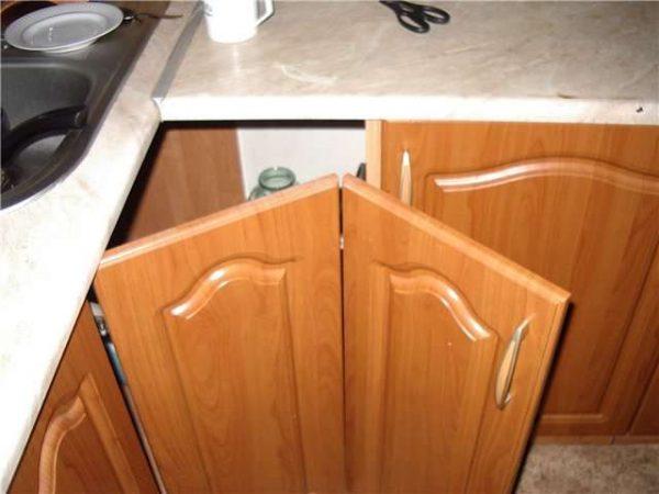 складные дверцы углового шкафа