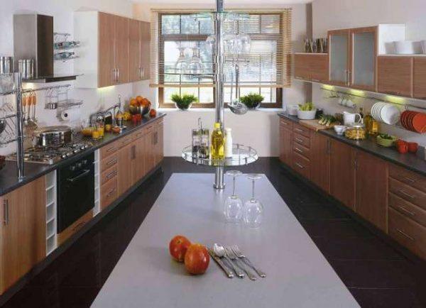параллельная планировка кухни гостиной