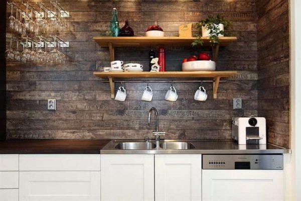 кухонный гарнитур из мебельных щитов