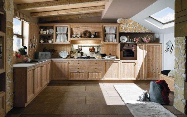 угловая кухня из мебельных щитов своими руками