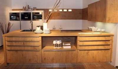 островная кухня из мебельных щитов своими руками