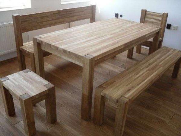 стол со стульями своими руками из мебельных щитов