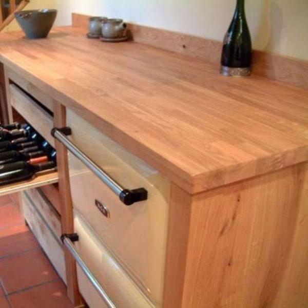 столешница на кухне из мебельных щитов