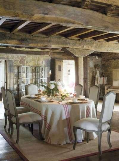 деревянные балки на кухне прованс