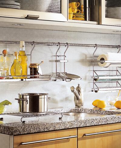 рейлинги на кухне в частном доме