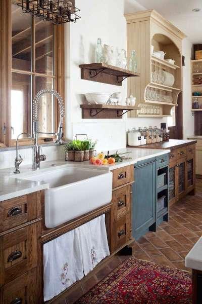 Дизайн кухни прованс в частном доме
