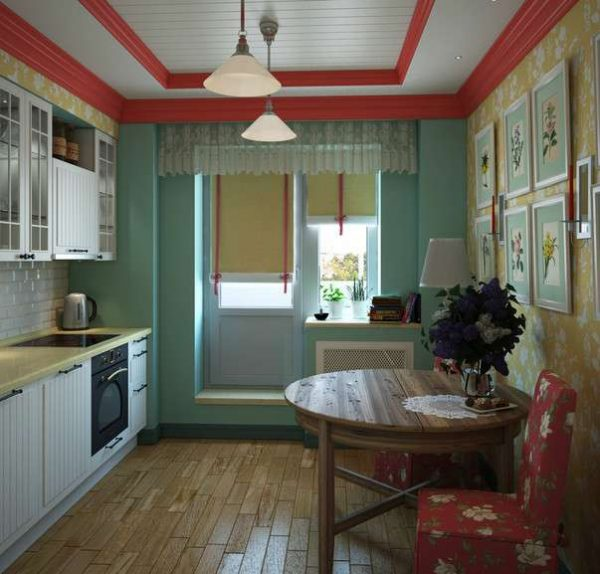 шторы жалюзи на кухне в однокомнатной квартире