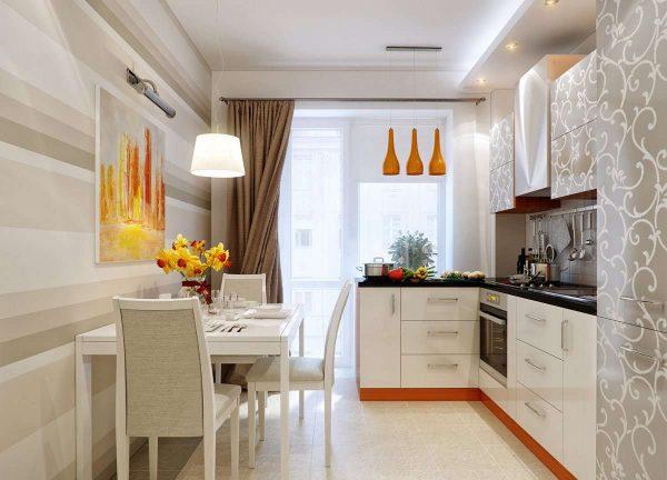 кухня с балконом в однокомнатной квартире
