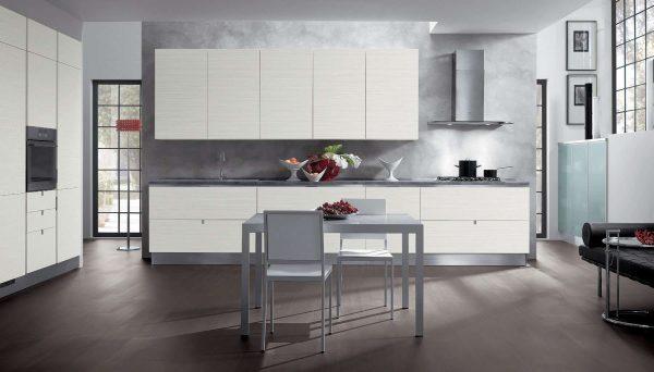 декоративная штукатурка на кухне в стиле модерн