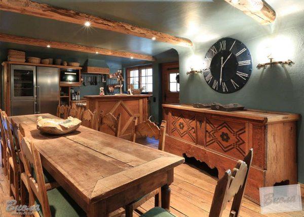 узоры на кухне в стиле шале