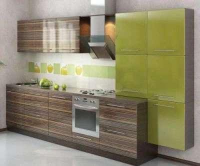 зеленый и коричневый цвет в интерьере кухни