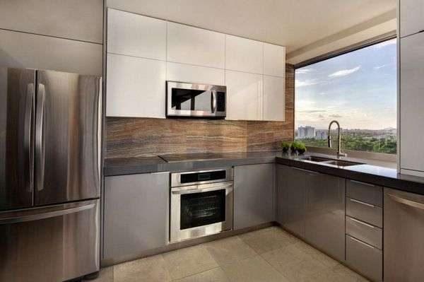 минималистический стиль в интерьере маленькой кухни