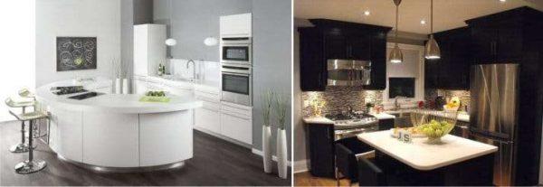интерьер маленькой кухни в стиле модерн