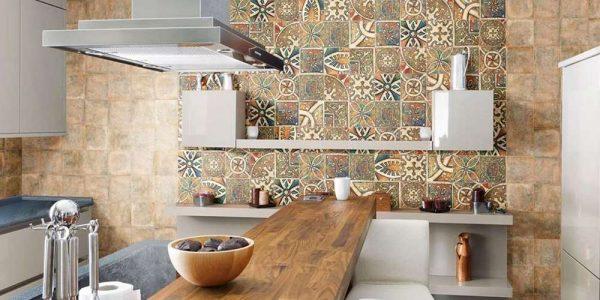 интерьер маленькой кухни в марокканском стиле