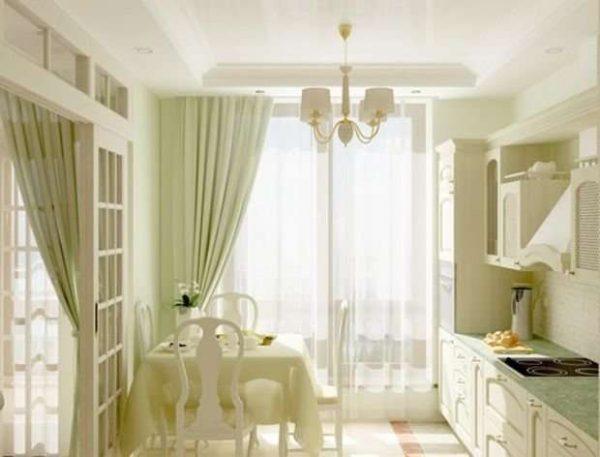 интерьер маленькой кухни в стиле прованс