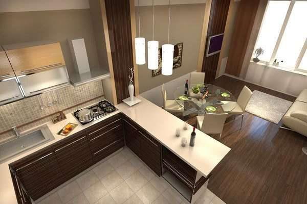 газовая плита на кухне гостиной