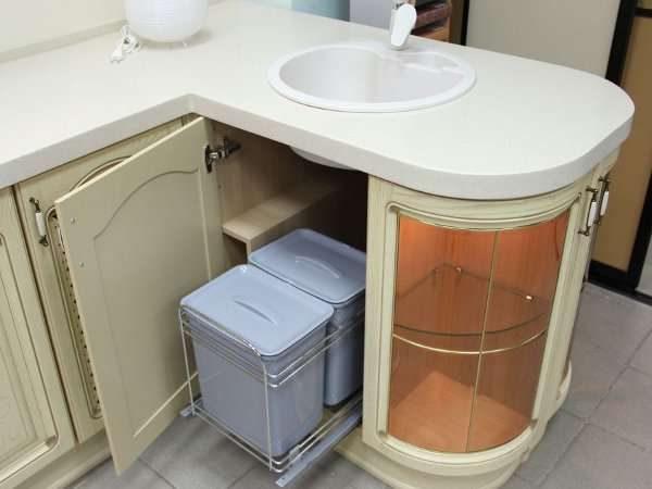 угловой шкаф с прямым углом под мойку