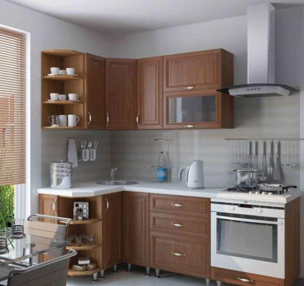 угловой гарнитур в интерьере кухни