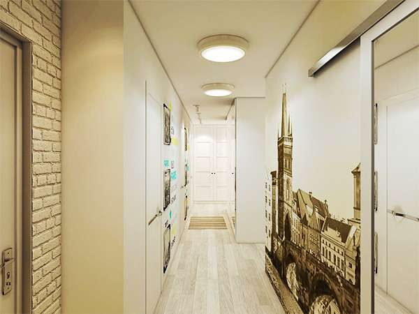 фотообои в узком коридоре