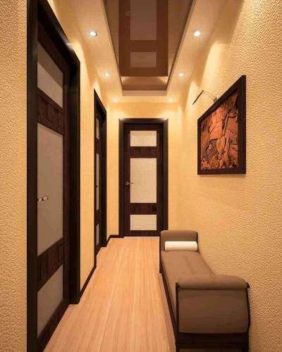 встроенное освещение в узком коридоре