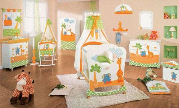 интерьер детской комнаты мальчика до года