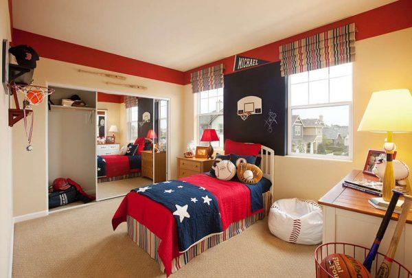 интерьер детской комнаты школьника