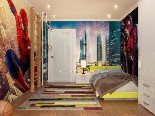интерьер детской комнаты мальчика в стиле хай тек