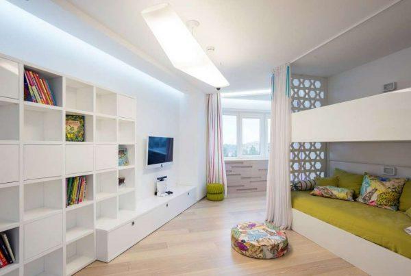 интерьер детской комнаты мальчика в хай тек стиле