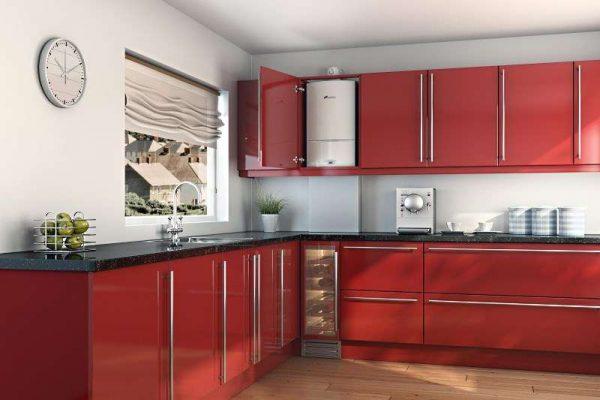 кухня с газовым котлом