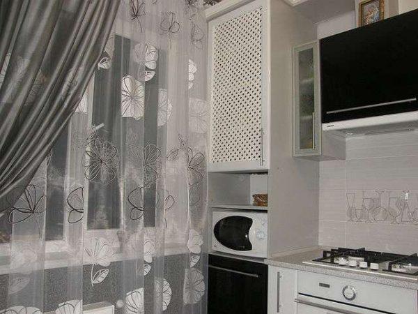 кухня с газовым котлом в пенале